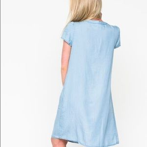 DownEast Dresses - Spring Sky Chambray Dress